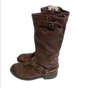 Frye kids boys Veronica Slouch leather boots sz 3